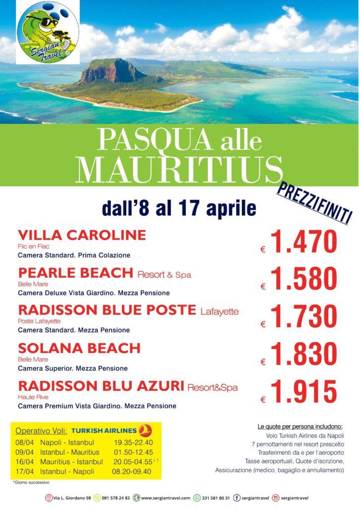 Pasqua Mauritius 8-17 aprile Bluewings