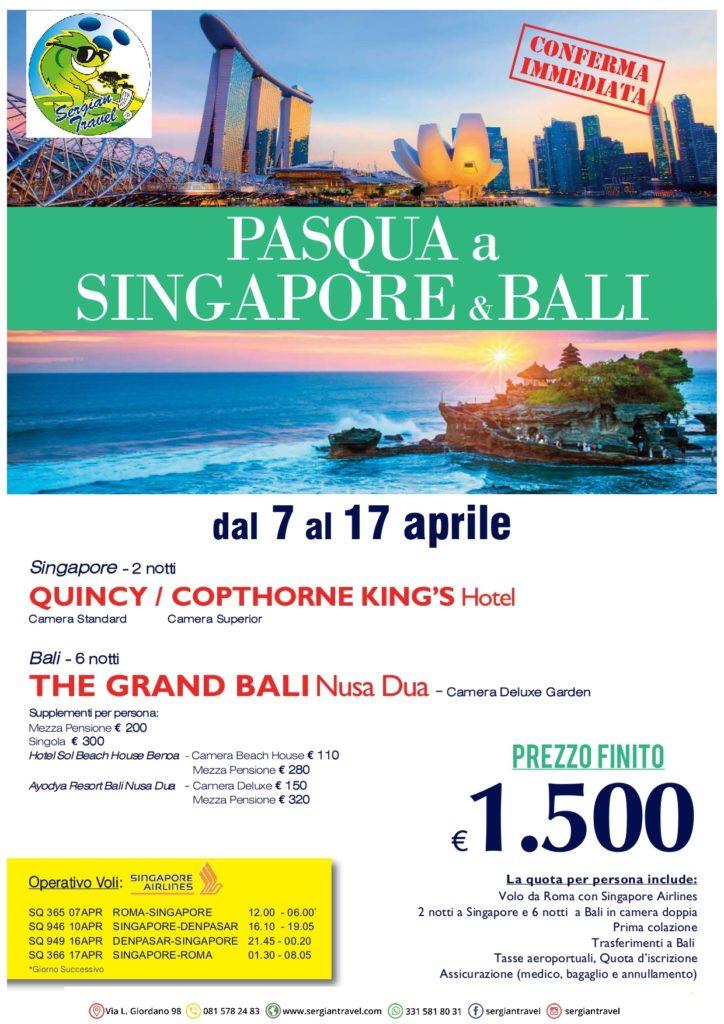 Pasqua Singapore + Bali 7-17 aprile Bluewings