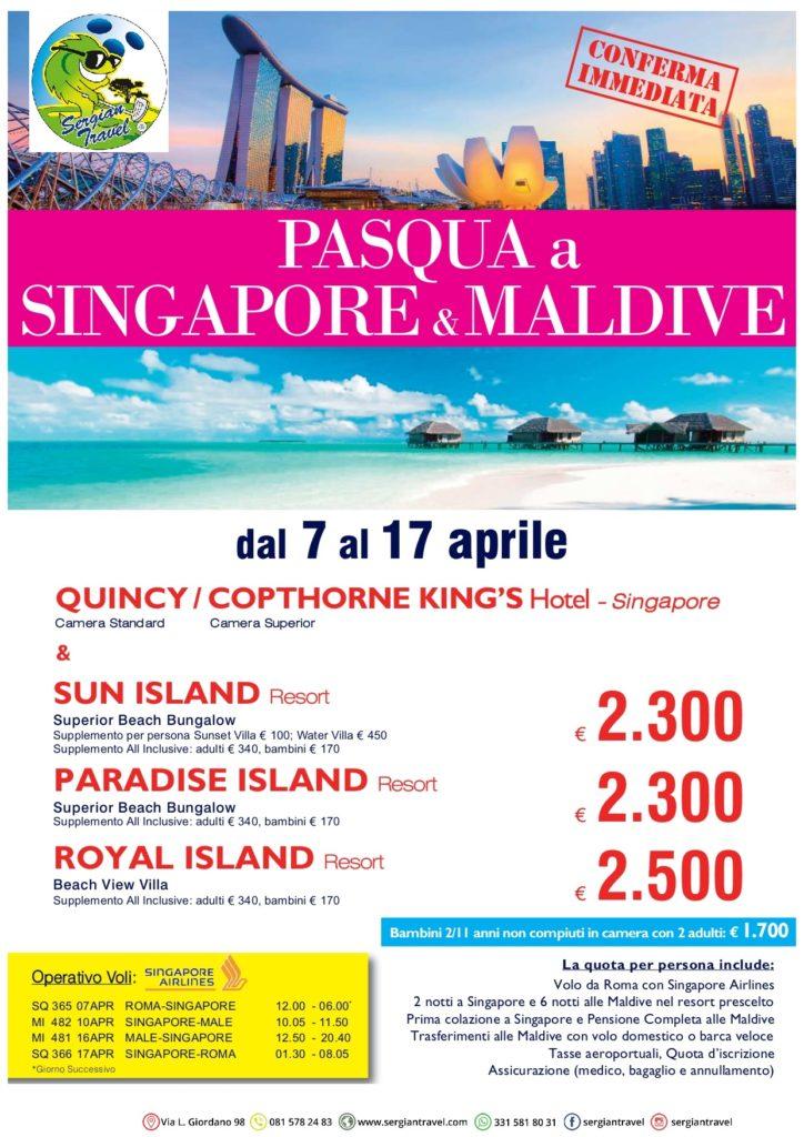 Pasqua Singapore + maldive 7-17 aprile Bluewings