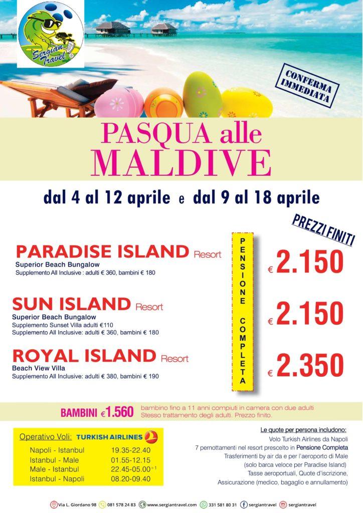 Pasqua alle Maldive Bluewings